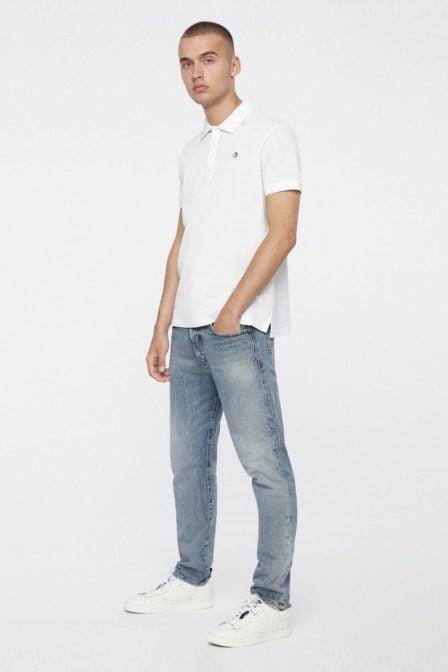Diesel t-weet polo shirt white