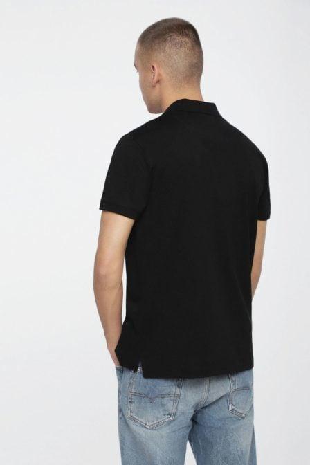 Diesel t-weet polo shirt black