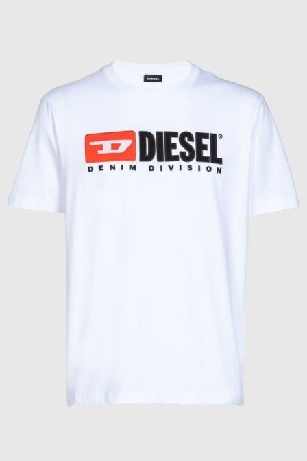 Diesel t-just division t-shirt white