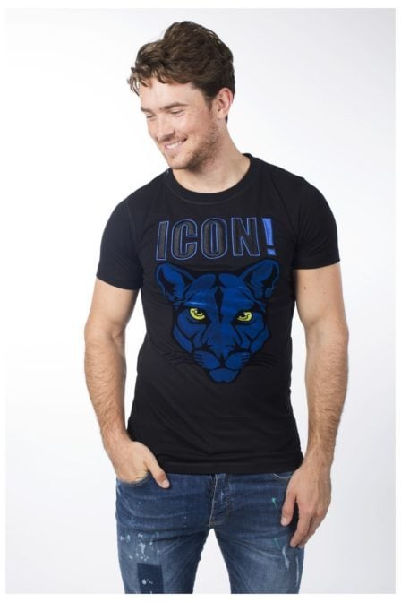 My brand icon panther t-shirt black
