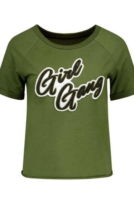 Nikkie girl gang sweater army green