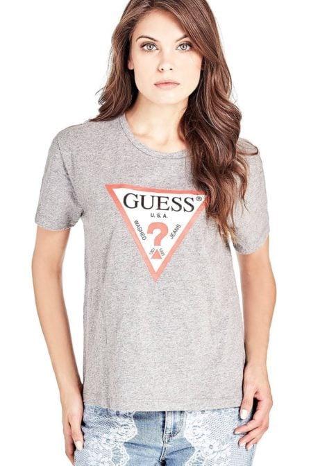 Guess classic triangle logo shirt grey
