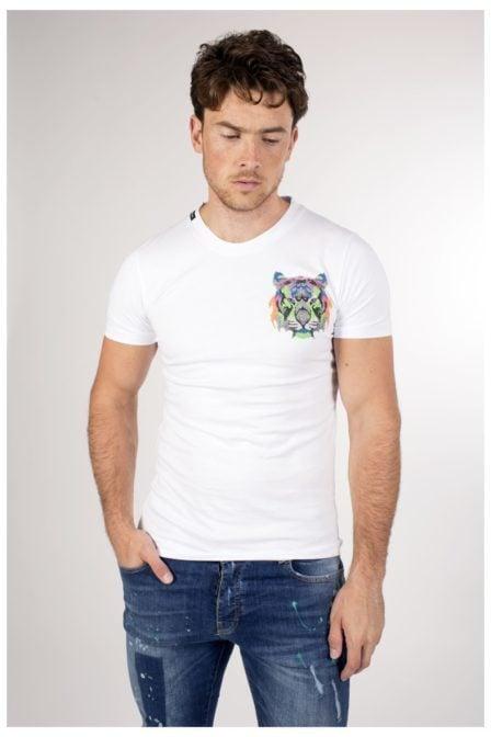 My brand neon logo tiger t-shirt