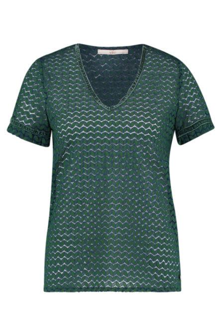 Aaiko flory t-shirt emerald green