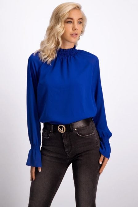 Josh v laure electric blue blouse