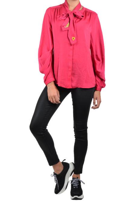 10 feet feminine blouse with detachable embroidery fuchsia