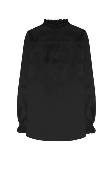 10 feet blouse with pleated r details at neckline black