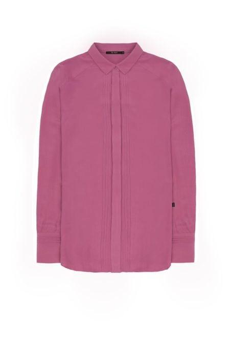 10 feet blouse in zijde blend met pin tuck details