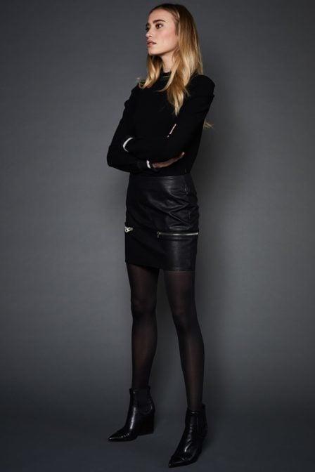 10 feet faux leren mini rok