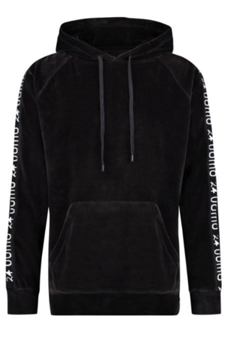 24 uomo my13 velvet hoodie black