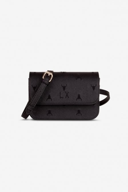 Alix the label fake leather heuptas zwart