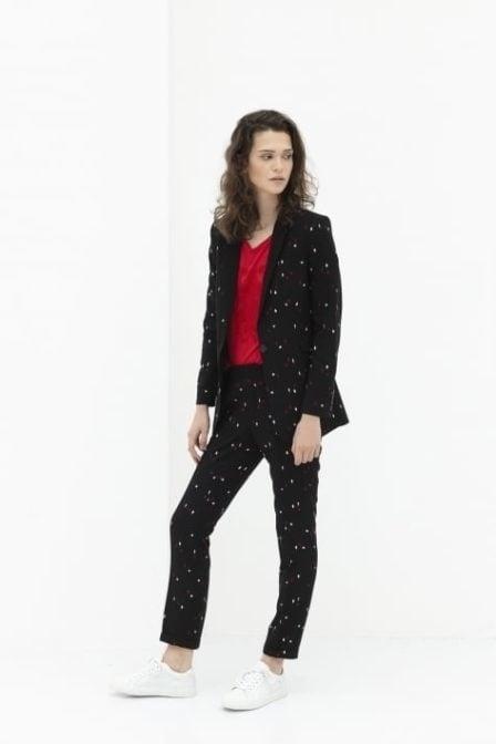 Alix the label graphic blazer black