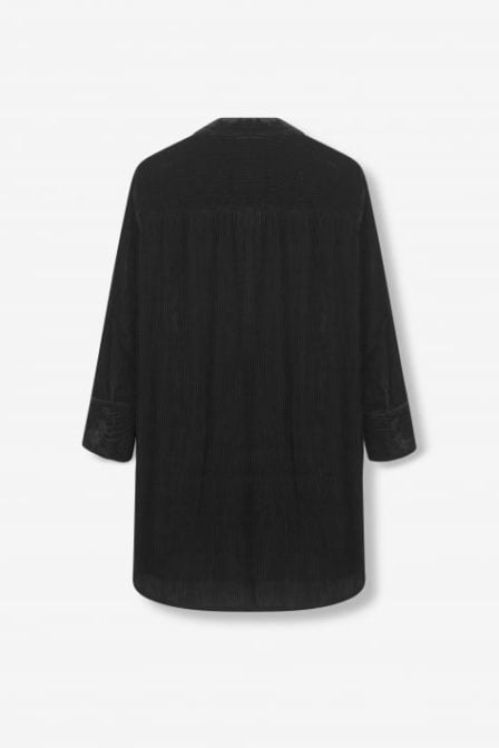 Alix the label rib velvet blouse black