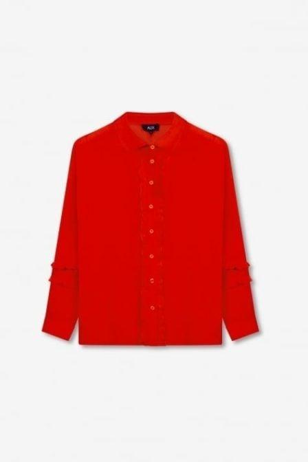 Alix the label ruffle blouse orange red