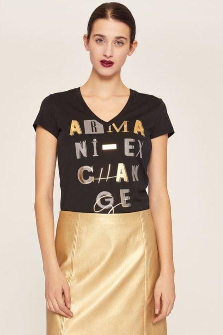 Armani exchange jersey t-shirt zwart