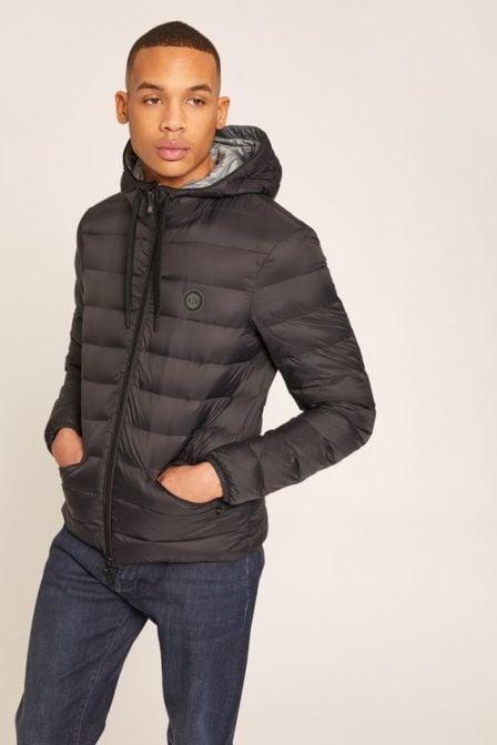 Armani puffer jacket zwart/grijs