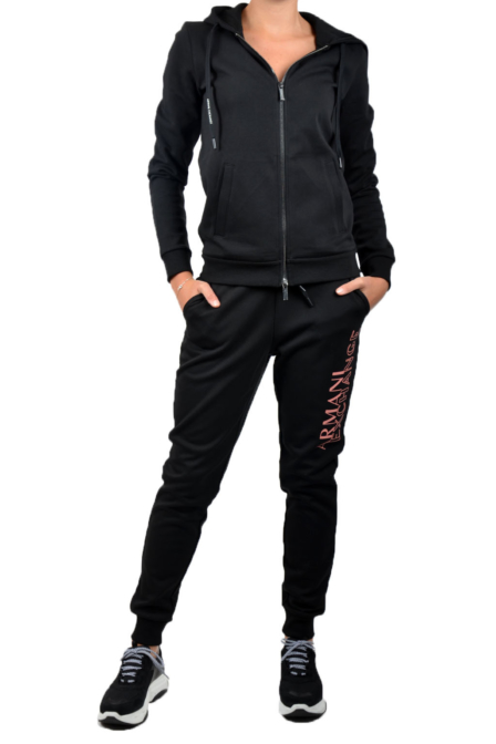 Armani woman jersey felpa black
