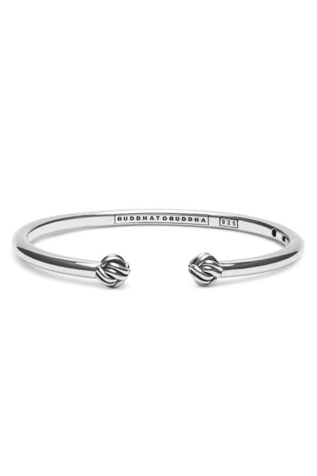 Buddha to buddha refined katja bangle silver