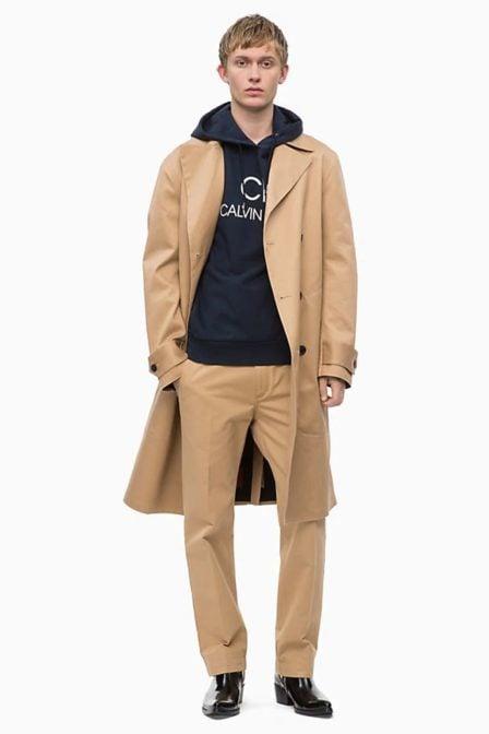 Calvin klein cotton logo hoodie sky captain