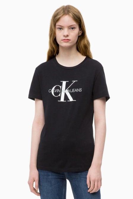 Calvin klein dames logo shirt zwart