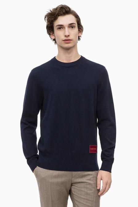 Calvin klein katoen-wollen trui sky captain