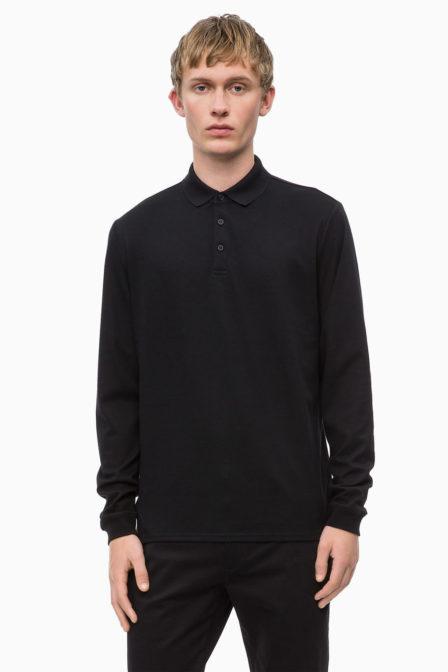 Calvin klein soft interlock long shirt perfect black