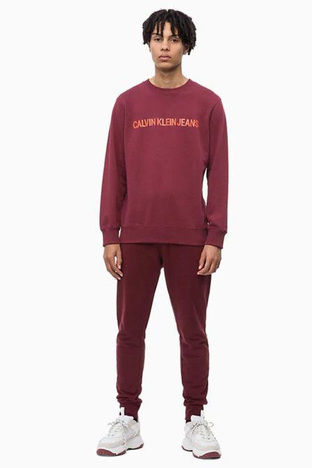 Calvin klein sweatshirt met logo bordeaux rood