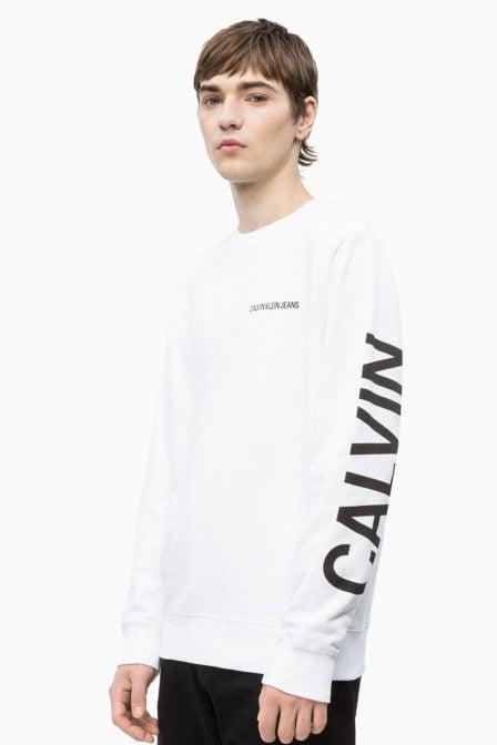Calvin klein sweatshirt met logo wit