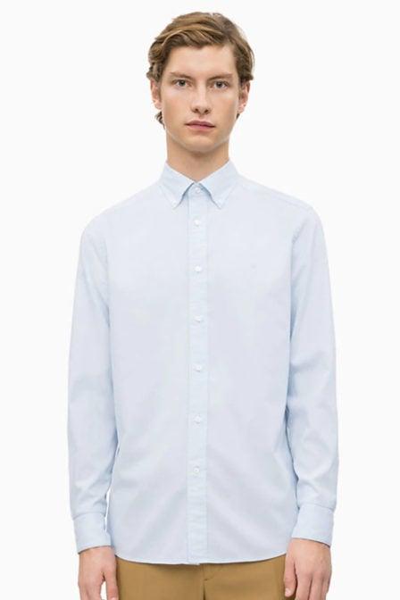 Calvin klein overhemd licht blauw