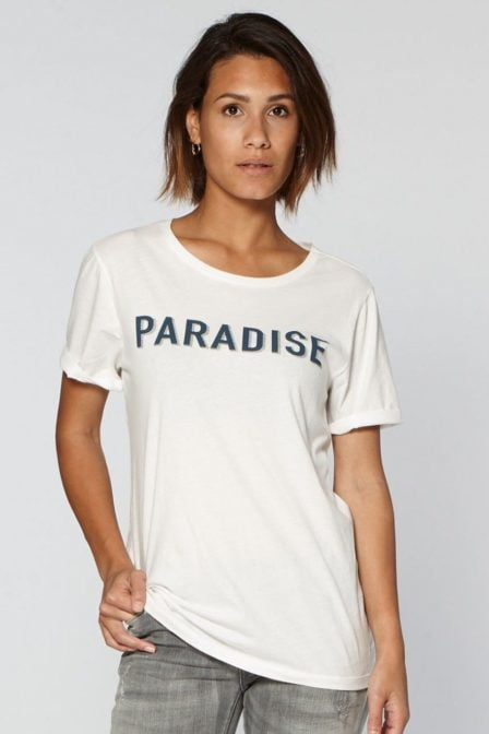 Circle of trust paradise t-shirt wit