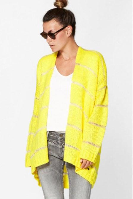Circle of trust jamie cardigan vest geel