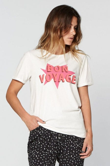 Circle of trust paradise t-shirt bon voyage wit