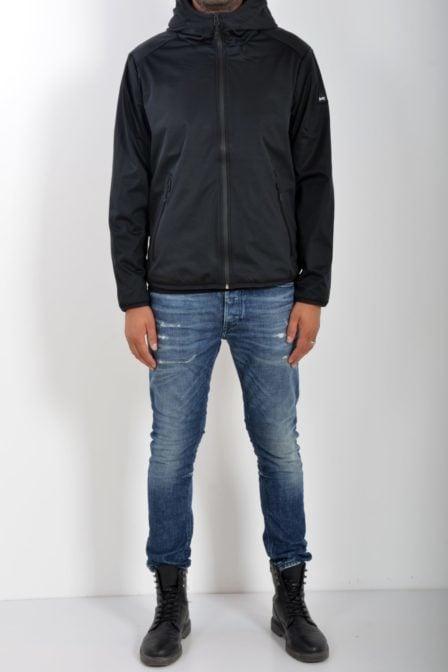 Denham brass shell jacket shadow black