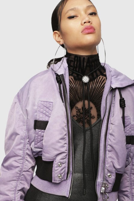 Diesel g-ikue jacket purple
