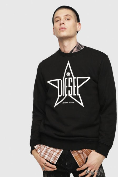 Diesel s-gir-ya sweater zwart