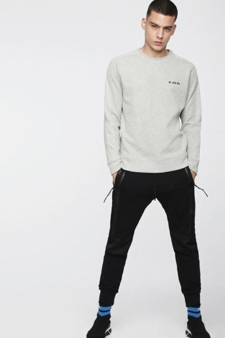 Diesel s-tina sweatshirt grey