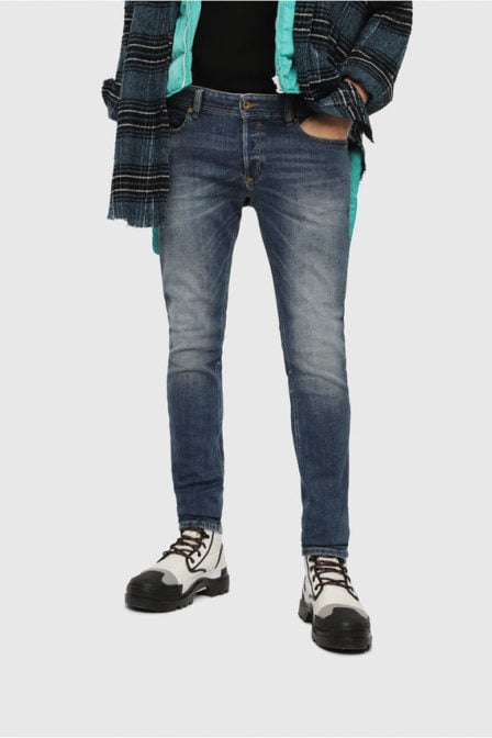 Diesel sleenker 082ab jeans medium blauw