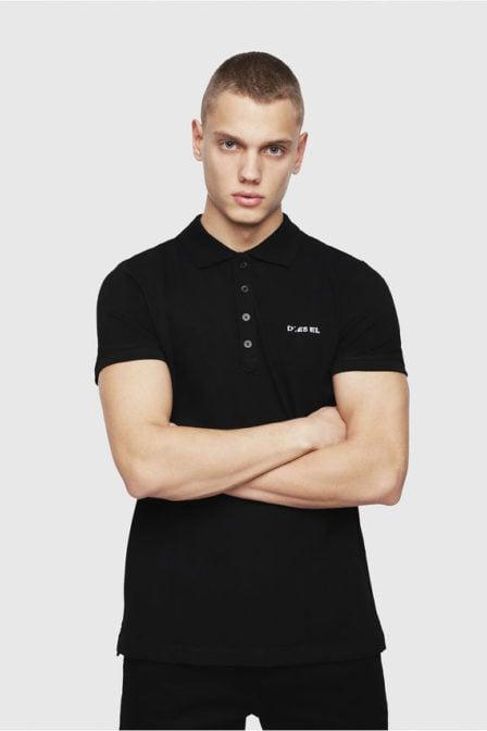 Diesel t-heal-broken-st polo shirt zwart