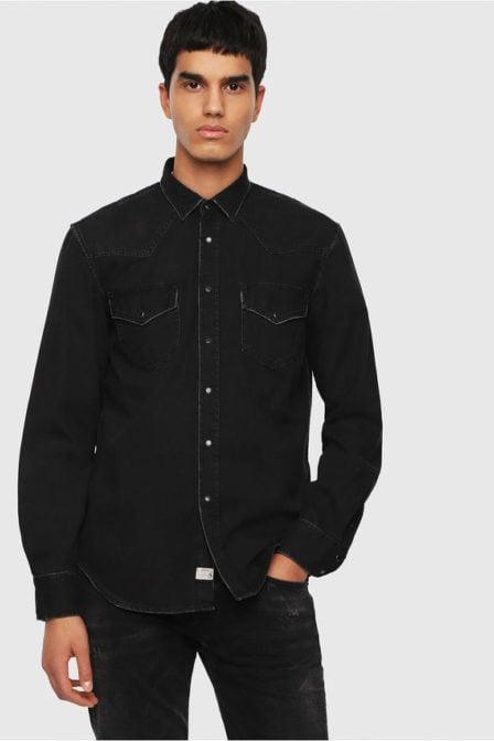 Diesel d-east-p overhemd zwart