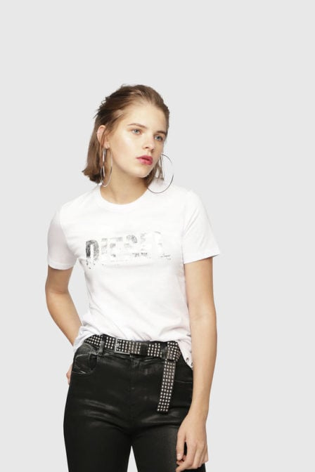 Diesel t-sily wh t-shirt wit
