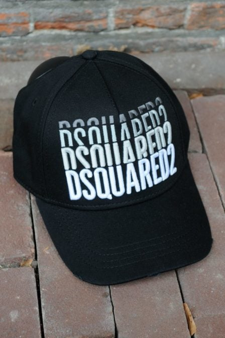 Dsquared2 cargo baseball garbadine nero cap