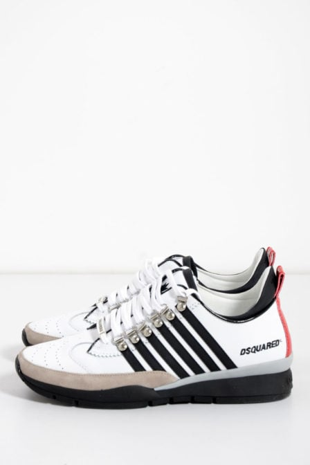 Dsquared lace-up low sneaker wit