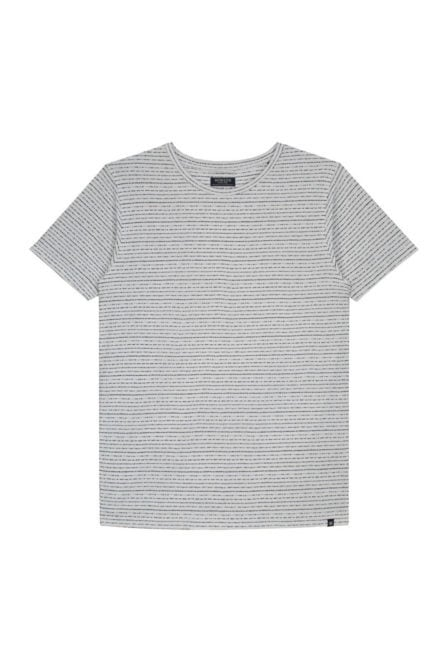 Dstrezzed crew fantasy stripe shirt wit/blauw