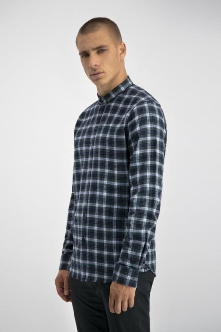 Dstrezzed shirt small flannel check green