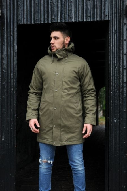 Dstrezzed parka cotton twill army green/khaki