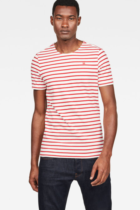 G-star raw xartto t-shirt rood gestreept