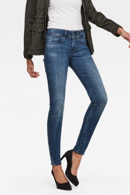 G-star lynn skinny jeans blauw