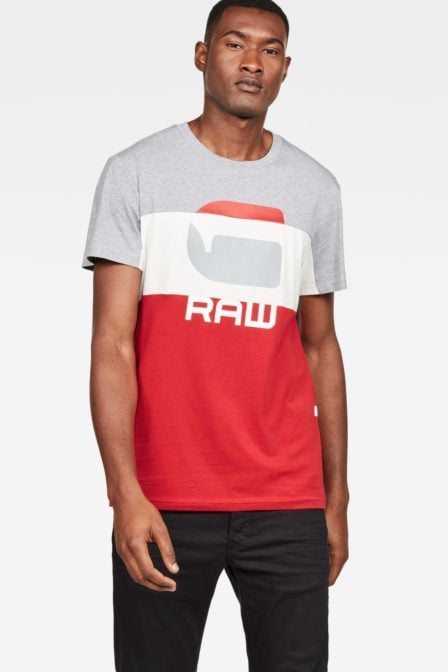 G-star graphic 41 shirt rood/wit