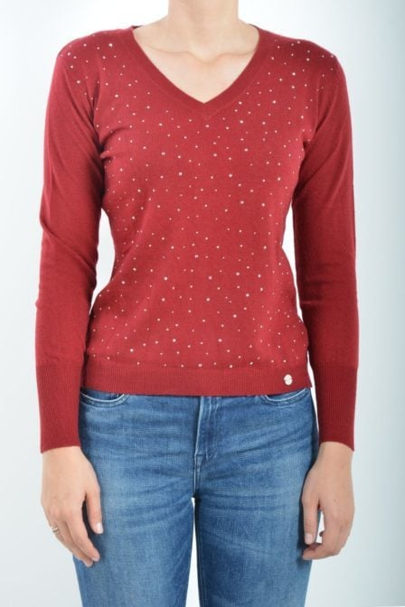 Gaudi long sleeve knit red