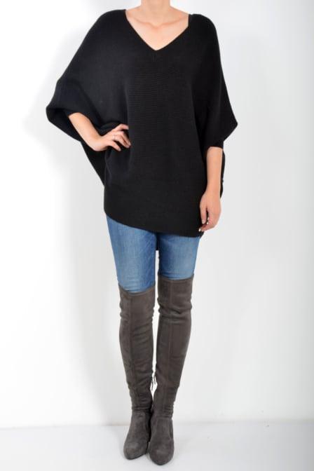 Gaudi lonng sleeve knit black
